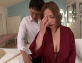 Busty milf Ruri Saijo gets fucked hard by a horny massage therapist picture 12