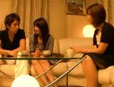 Japanese mature women have a threesome with one guy