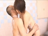 Saki Ootsuka Asian babe enjoys a wet fucking in the shower picture 15