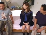Ami Hyuuga Asian Schoolgirl Enjoys Masturbating Alone picture 2
