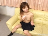Ami Hyuuga Asian Schoolgirl Enjoys Masturbating Alone picture 8