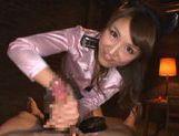Sexy Aozora Yamakawa enjoys swallowing jizz picture 12