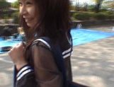 Mikan Amazing Asian schoolgirl enjoys her flashing fun picture 14