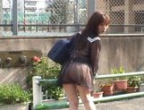 Mikan Amazing Asian schoolgirl enjoys her flashing fun picture 5