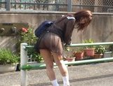 Mikan Amazing Asian schoolgirl enjoys her flashing fun picture 6