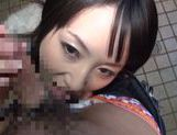 Glorious busty Marie Kimura gets drilled in nice Asian pov video picture 13