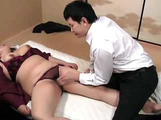 Hot mature Japanese busty beauty loves to get it hard way