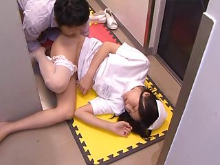 Enticing Asian nurse Tsubomi sucks a large cock