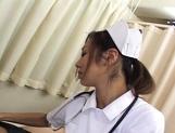 Erena Fujimori Asian nurse gives a hot blowjob picture 12