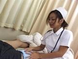 Erena Fujimori Asian nurse gives a hot blowjob picture 13