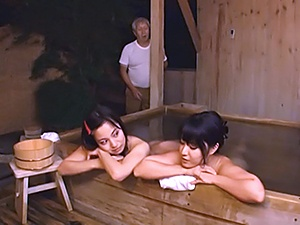 Petite seductive Japanese AV Model pleases horny mature guy