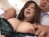 Two busty chicks Rin Kazane and Miyuki Matsushita enjoy office sex