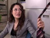 Chick in office suit makes facesitting and plays with cock picture 12