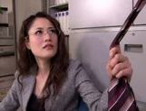 Chick in office suit makes facesitting and plays with cock picture 13