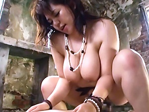 Massive Asian hottie with huge tits Mizuki Ann has hot outdoor sex