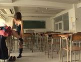 Kinky Japanese schoolgirl Yuzu Ogura begs for hardcore picture 11