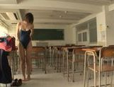 Kinky Japanese schoolgirl Yuzu Ogura begs for hardcore picture 12