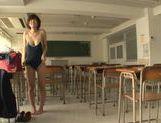 Kinky Japanese schoolgirl Yuzu Ogura begs for hardcore picture 13