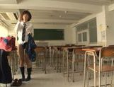 Kinky Japanese schoolgirl Yuzu Ogura begs for hardcore