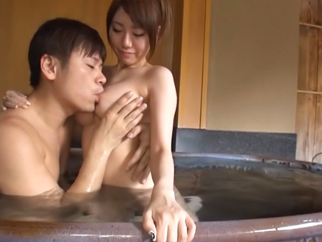 Sugary Asian sweetie Chisa Hoshino gets her tits and shaved pussy fucked