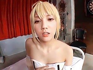 Blonde beauty in amazing hardcore sex actions