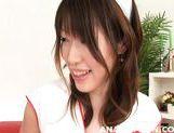 Naughty Asian nurses Arisa Aoyama Saki Asaoka make anal insertions picture 12