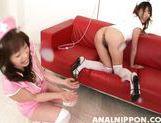 Naughty Asian nurses Arisa Aoyama Saki Asaoka make anal insertions