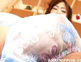 Beautiful Asian cutie Keiko Morikawa exposes her anal and pussy