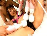 Glorious Japanese AV model Kana Mimura gets anal plug and assfuck