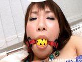 Yummy Asian girl Kana Mimura enjoys pussy and anal masturbation