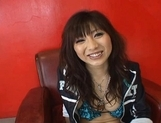Akari Satsuki enjoys getting her pussy tickled with a vibrator
