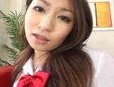 Saori Kurata Hot Japanese babe fondles her pussy picture 12