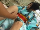 Megumi Haruka Lovely Japanese babe in costume fondles her pussy picture 11