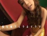 Ramu Nagatsuki Lovely Asian model who enjoys sucking cock before a fucking