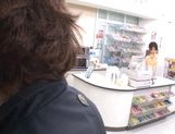 Marimi Natsuzaki Cute Japanese babe likes getting fucked in the supermarket picture 12