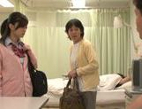 Naughty Japanese schoolgirl fucks mature guy in a toilet picture 13