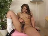 Mai Miyama Asian model is masturbating her wet pussy