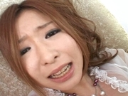 Nana Otone Naughty Asian model enjoys her pussy with a dildo