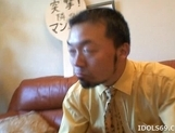 Sayoko Kuroki Naughty Asian babe Gets her Pussy Poked With A Dildo picture 12