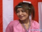 Yuzuru Japanese beauty enjoys lots of hard sex picture 15