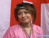 Yuzuru Japanese beauty enjoys lots of hard sex