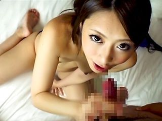Ayu Sakurai arousing Asian milf in hot blowjob pov