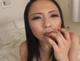 Mina Nakata Hot Asian model shows off her wet pussy