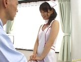 Beautiful Asian nurse Akane Ohzora enjoys hardcore anal fucking picture 2