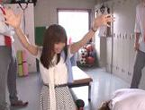 Shameless teacher Minami Kojima gives a blowjob lesson picture 11
