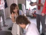 Shameless teacher Minami Kojima gives a blowjob lesson picture 12