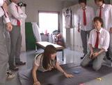 Shameless teacher Minami Kojima gives a blowjob lesson picture 15