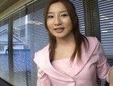 Senna Kurosaki Hot Asian secretary gets bukkake picture 13