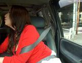 Cock hungry mature Jaoanese AV model sucks cock in a car picture 15