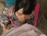 Enticing Asian teen Ai Uehara in cock sucking POV picture 12